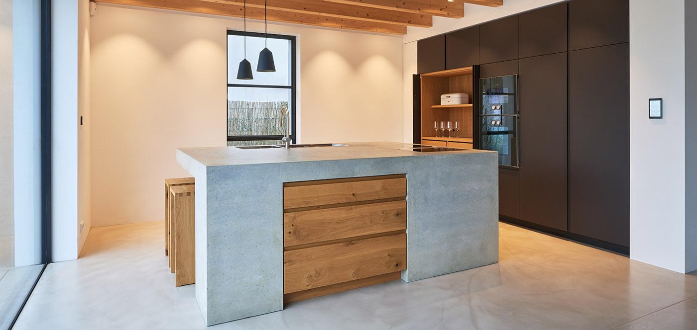 Concrete Oak Linoleum